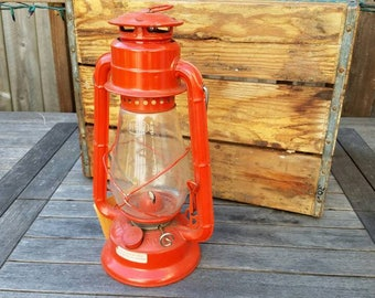 NOS Dietz Junior No. 20, Vintage Red Railroad Style Hanging Lantern, Rustic Home Decor, Camping/Cabin Decor, Woodland Theme Birthday
