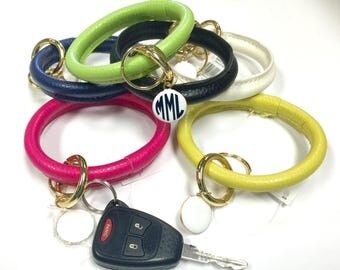Monogrammed Bracelet Keychain