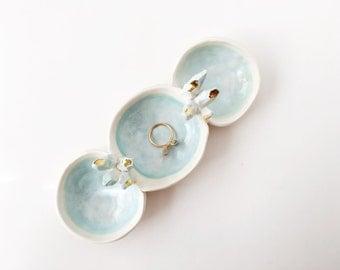 Crystal Pod Jewelry Holder - Ring Dish - Ring Holder - Gold Ring Dish - Gold Ceramics