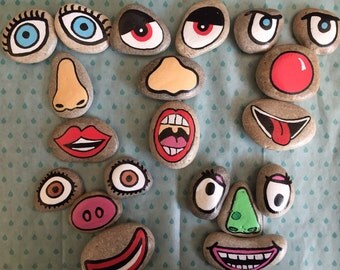 Funny faces story stones