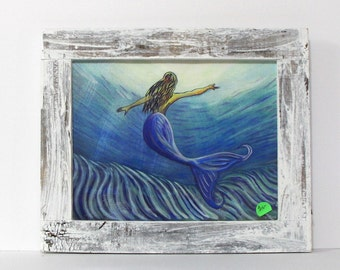 Mermaid Photo Frame Etsy