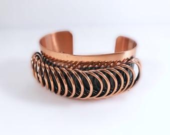 Renoir Copper Cuff Bracelet - Renoir Matisse Modernist Copper Bracelet