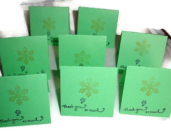 Holiday thank you mini cards 8ct 5x2 and a half folded Mini Notes Folded notes for sales Thank you cards Thank you Sales cards Thanks
