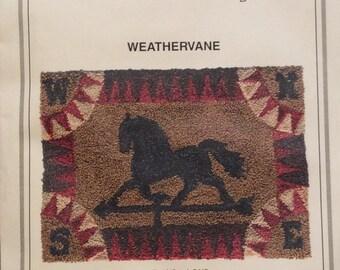 Weathervane punch needle pattern