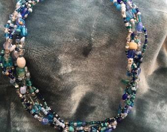 Braided mermaid necklace