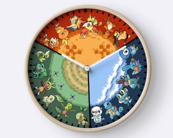 Starter Pokemon Clock