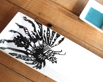 Cayman Lionfish Double Dipper - Tray - Serving Dish - Sushi plate