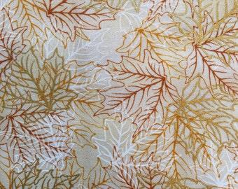 Autumn fabric - fall fabric - leaf fabric - leaves fabric - falltime fabric - harvest fabric - #17007