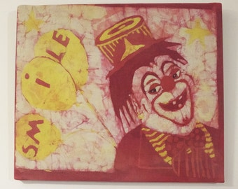 Vintage Clown batik picture