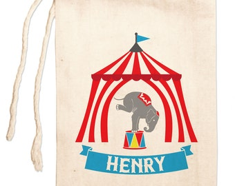 Circus Birthday Favors. Circus Birthday Party Favor Bags, Big Top Circus Personalized Favors