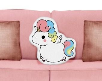 Fat Unicorn Plush Cushion Pillow