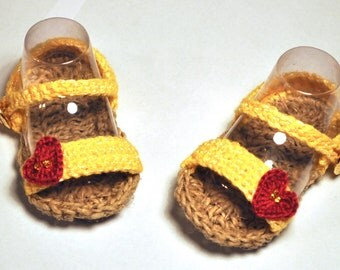 Cotton Baby Sandals sz. 3-6 months
