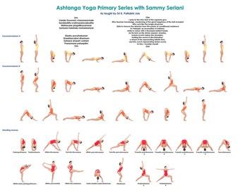 "8.5"" x 11 "" Laminated Ashtanga Yoga Primary Series Card"