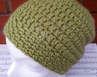 Crochet hat, green hat, adult hat, womens hat, mens hat,  winter hat, ski hat, crochet beanie, beanie hat, wool hat, crochet womens hat,