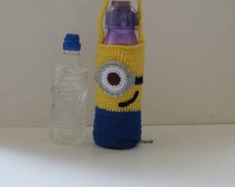Water Bottle Bag, Water Bottle Holder, Water bottle carrier, Cozy, Drink Bottle Tote, Drink bottle holder, School Water Bottle Bag, Minions
