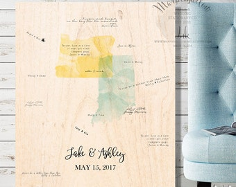 Wood Guest Book Wedding Guest Book Alternative, Guestbook Map Wedding Guest Book Wedding Signs, Wedding Gift for Bride, Travel Wedding Map