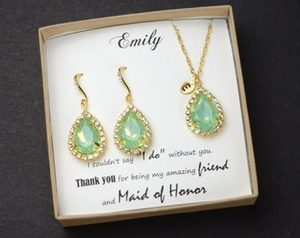 Mint Opal Gold Drop Earrings Sea Foam Earrings Bridesmaid Jewelry Wedding,Bridal Wedding Dangle Earrings Bridal Jewelry  Bridesmaid Gift