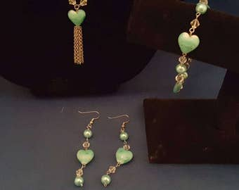 Heart of the ocean jewelry set