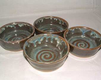 Set of four handmade stoneware ramekins