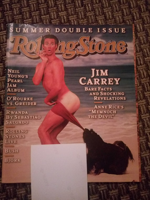 Rolling Stone magazine Jim Carrey issue 712 1995
