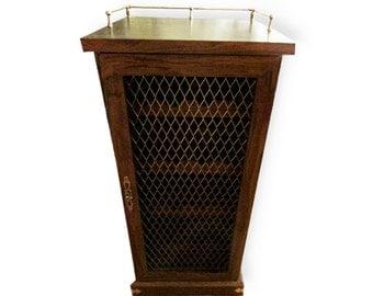 Liquor Cabinet, Wine Cabinet, Mid Century Bar, Liquor Storage, Gift for Him, Locked Dry Bar, Home Bar, Man Cave, Gift Idea