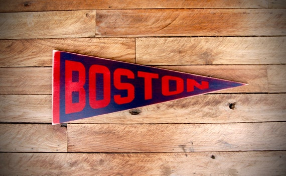 Boston Red Sox Vintage Inspired Sports Pennant