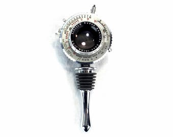 Wine Bottle Stopper - Antique Kodak Synchro Rapid 800 Shutter - Wine Accessory