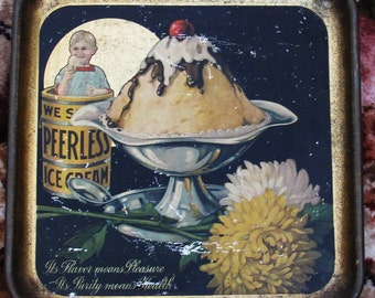 Peerless Ice Cream Tray soda parlor