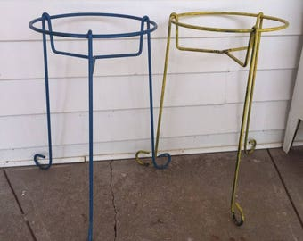 Pair of Mid Century Metal Plant Stands