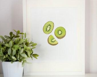 Kiwi Slices Print