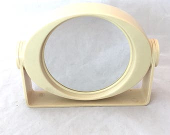 Vanity Mirror, Westinghouse Swivel Double Sided Oval Vanity Mirror, Shaving Mirror, Plastic Vanity Make Up Mirror, Enlarging Reflective