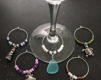 Nautical Wine Glass Charms (Set of 5)