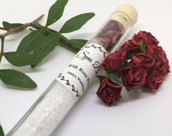 Bath salt favour - Floral Bath wedding Favours - Bath Salts - Bridesmaid gift - Wedding Favours, Bridal Shower, Rose Petals