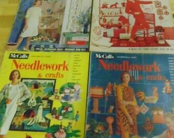 1962-1964 McCalls Needlework Magazines, Ads and Patterns