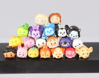 3/10/20pcs mini TSUM minnie/jack/wuddy/nimo/DIY/PVC/keychain/Collection/Decoration/2cm Random