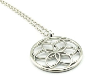 Seed of Life Necklace, Sacred Geometry Necklace