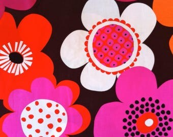 Retro FLOWER power Woodland Delight Michael Miller cotton fabric