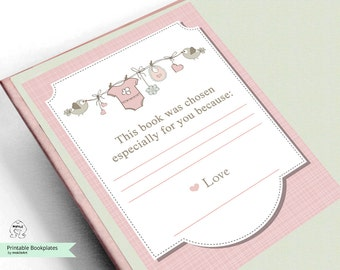 Printable Bookplates -Baby Shower Bookplates-Book Plates-INSTANT DOWNLOAD-Bookplates-love Bookplates- Childrens Bookplate,Book-themed