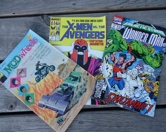 Comic Books - X-Men - Mod Wheels and Wonder Man