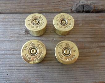 Genuine 12 Gauge Gold Medal Duck Shotgun Shell Brass Magnets, Set Of 4 - Refrigerator, Toolbox Magnets - Gunsafe Magnets - Bullet Magnets