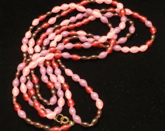 """52"""" Necklace Pinks and Purples"""