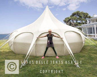 20ft Lotus Belle Tent yurt, burning man, glamping festival tent