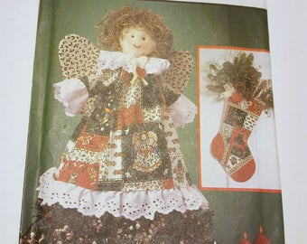 Christmas Decor Patterns / Christmas Stocking, Ornaments, Tree Skirt, Wreath, Table Runner and Tree Topper / Holiday Decor Pattern