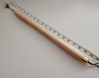 Hand Turned....Long Wooden Back Scratcher.... 20 Inches Long.... Turned From English Ash Wood....
