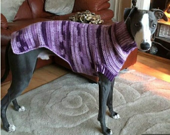 Blackcurrant Jumper, Whippet Jumper, Whippet Coat, Dog Clothes, Dog Jumper