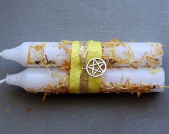 Litha Ritual Candles for Midsummer's Eve, Summer Solstice, Wicca, Paganism, Wiccan