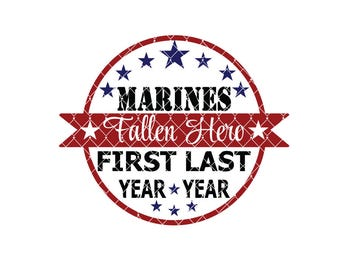 Marines fallen Hero Commercial Use svg dxf ai Eps File for Cricut & Silhouette machines VV0015-D
