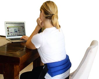 Natural Heat Pack for Lower Back & Stomach - Microwave for Heat Therapy, Freeze for Cold Therapy - By My Heating Pad- (Blue)