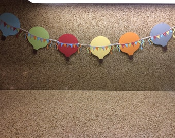 Hot Air Ballon Banner / Birthday Banner / Baby Shower Banner