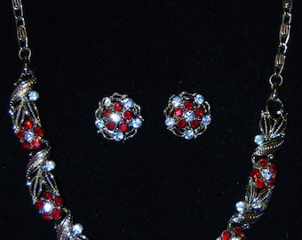 signed lisner necklace and earrings